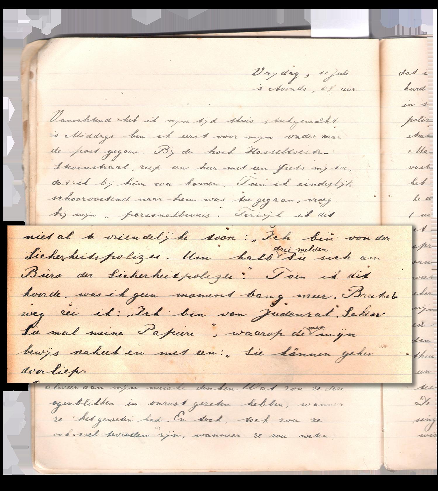 Bernie's dagboek 31 juli 1942