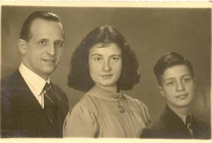 Ellis met haar vader en Bob