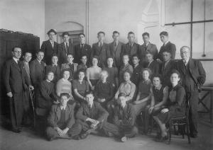 Bron: Haags Gemeentearchief - klas 3 HBS en 3 Gymnasium 1941-1942