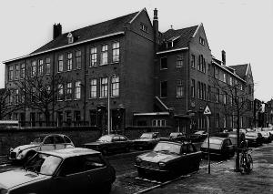 Joods Lyceum in de Fischerstraat in Den Haag