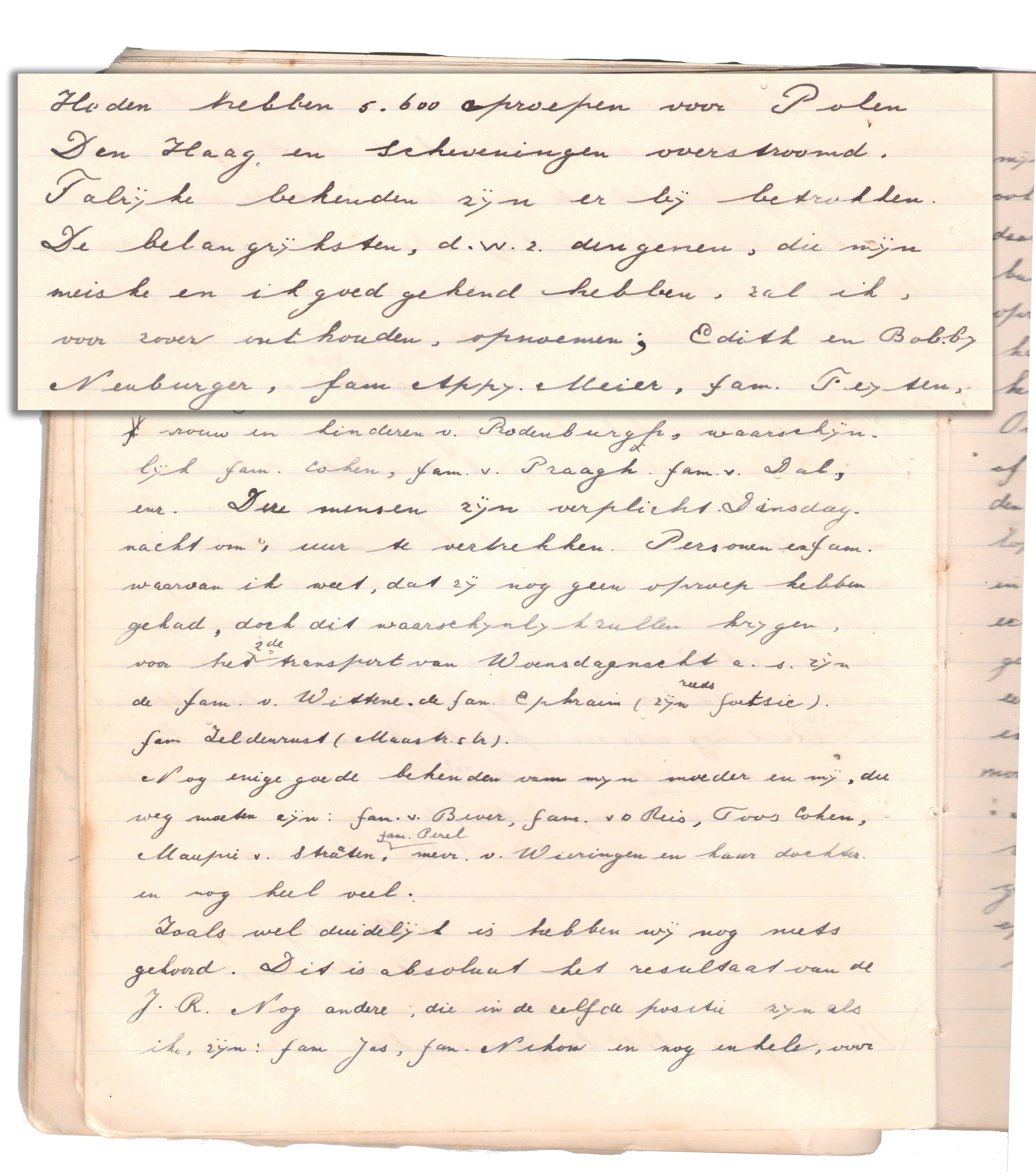 Bernie's dagboekbrief van 17 augustus 1942
