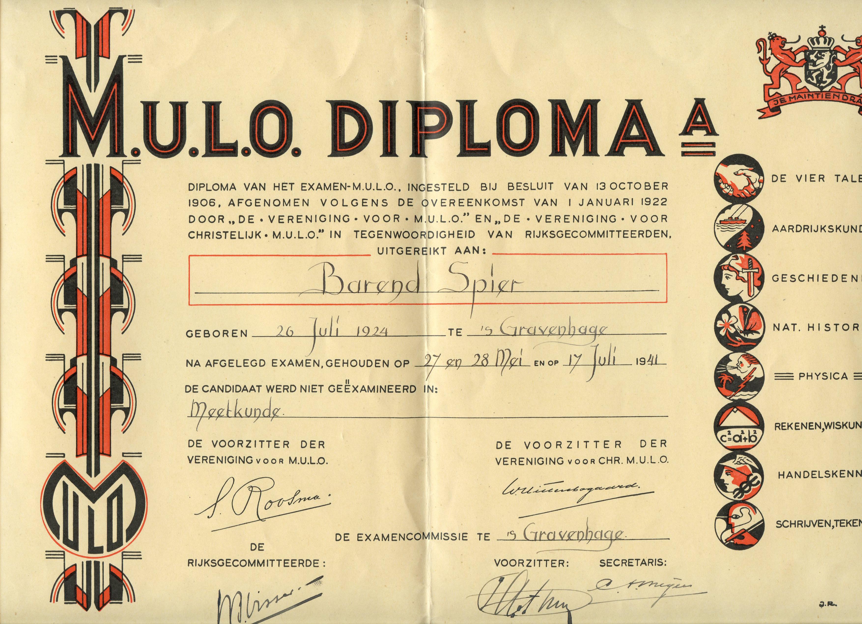 Mulo-diploma Bernie