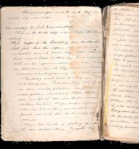 Ellis eerste dagboekbrief aan Bernie, 23 juli 1942