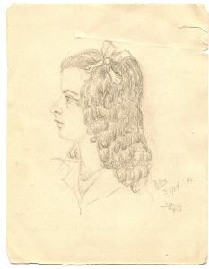 Ellis, getekend door haar vader in september 1942